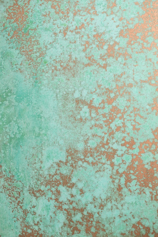 Creating Turquoise naturally, through copper patination, for   Artificial Regality: Royal Green-Blue,   by Naama Agassi