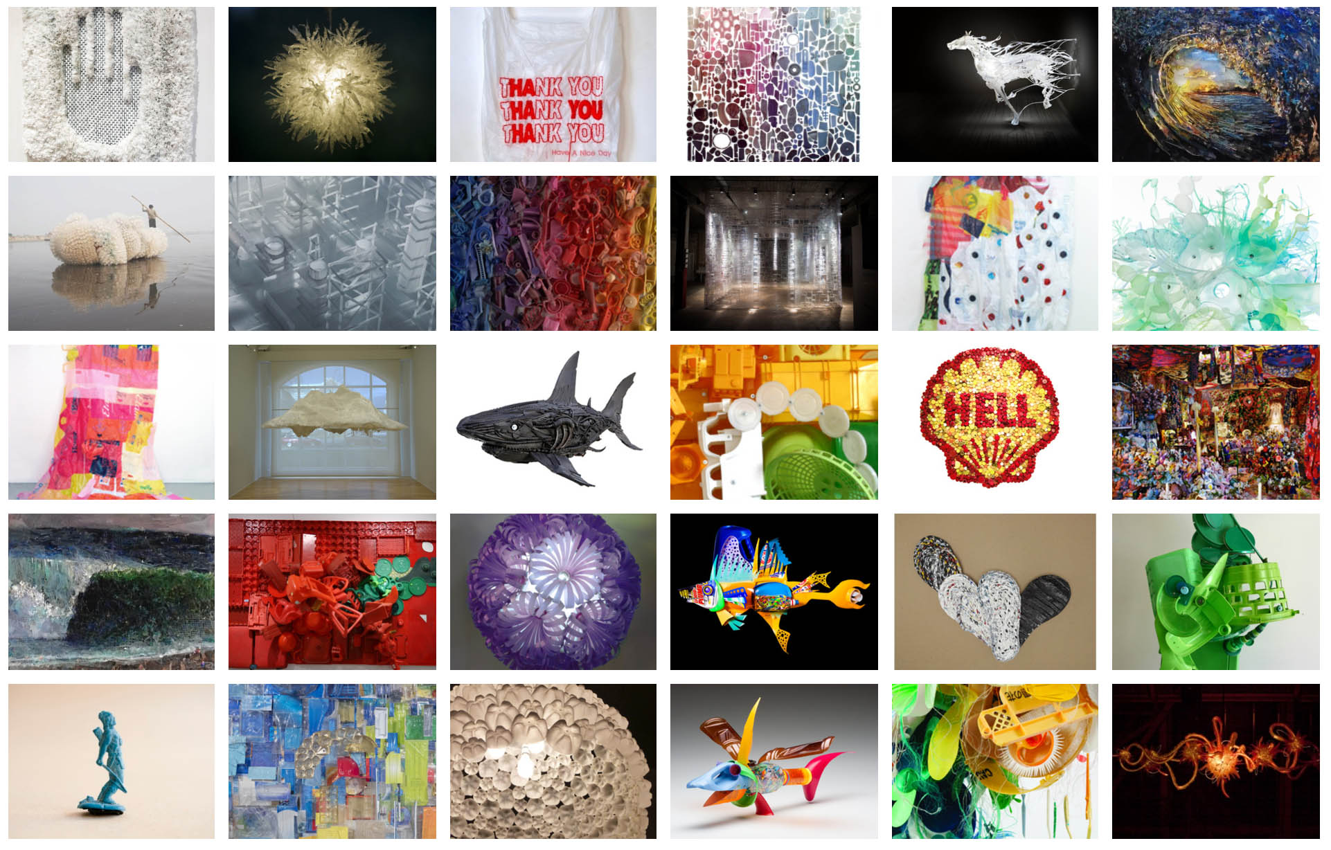 The spectrum of work, all created and focussed on plastic debris, generated by the collective of artists and designers in Project Vortex.