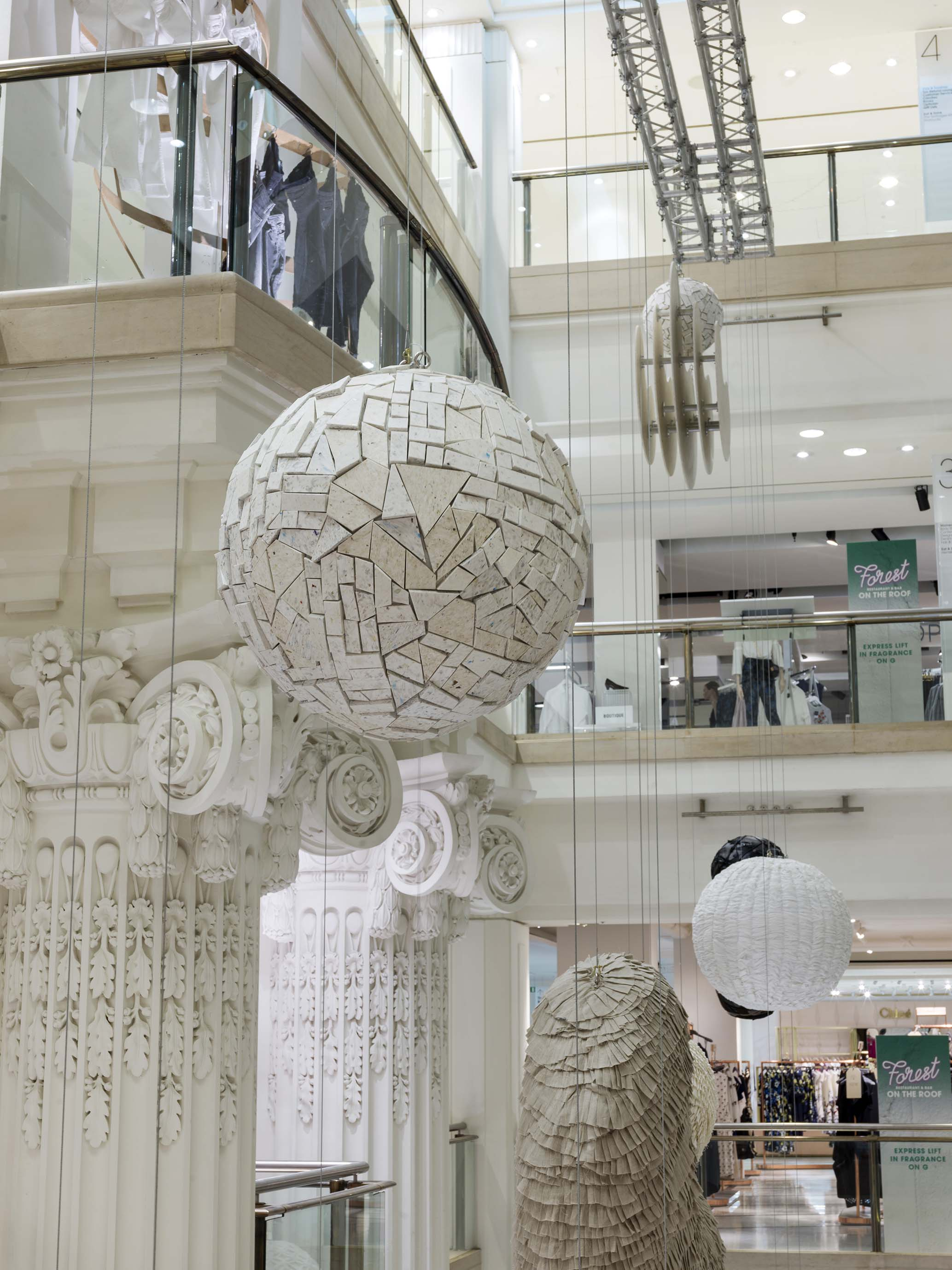 Smile Plastics'  Yogurt Material , seen at Selfridges' Material World project