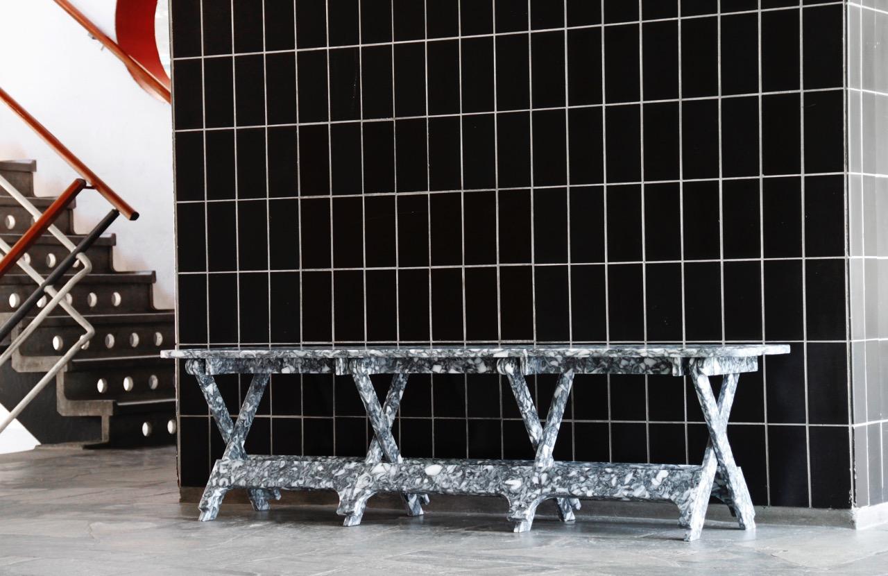 Paula Artnzen's Open Desk, created from Smile Plastics'bespoke material