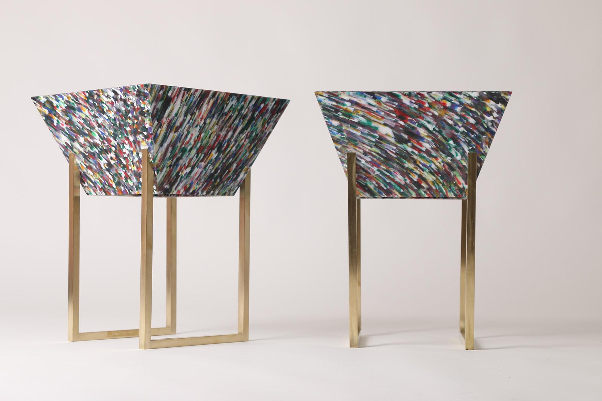 Margot Hamelin's furniture used Smile Plastics'  Bottled  material