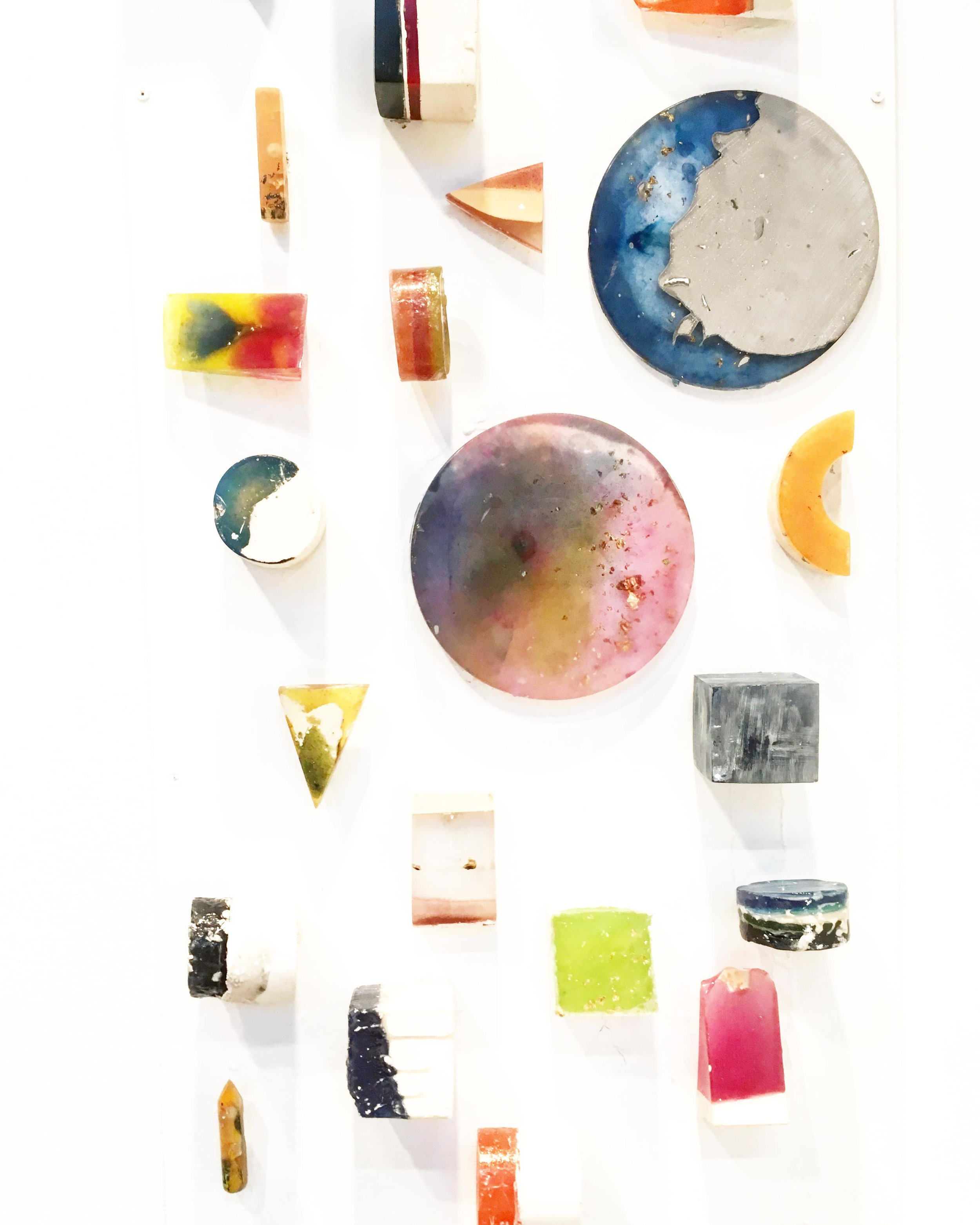 The Mineral Collection  of materials, surfaces and 3D forms, by Abigail Jennifer.