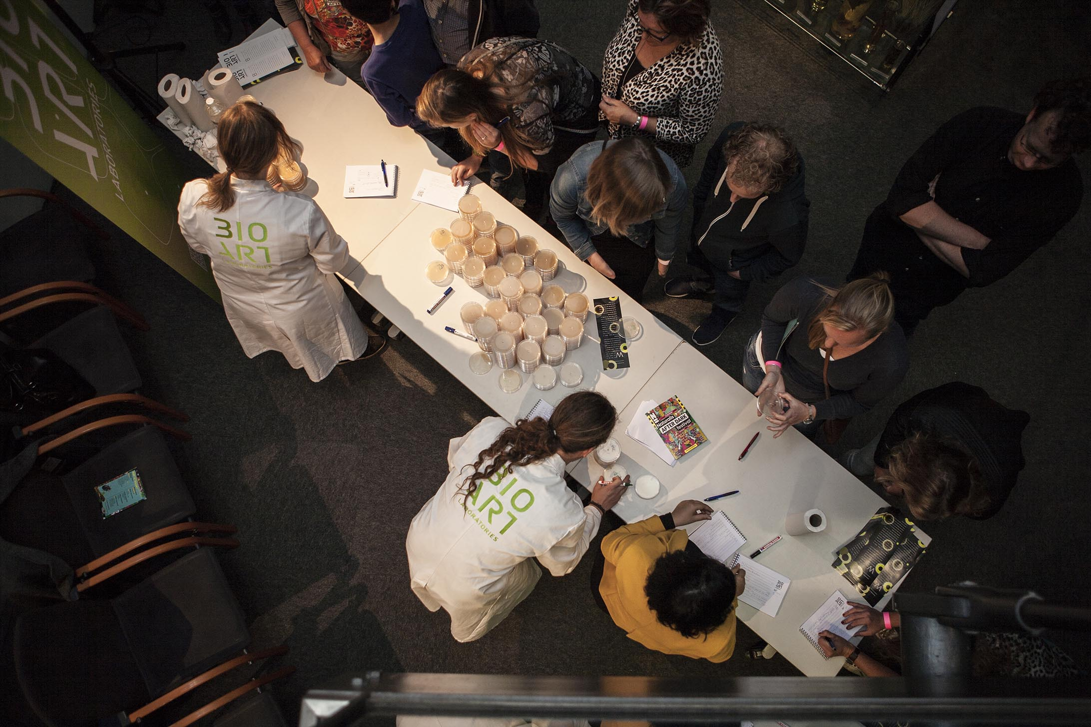 Naturals After Dark XXL, an interactive event for the public, by BioArt Laboratories in 2015