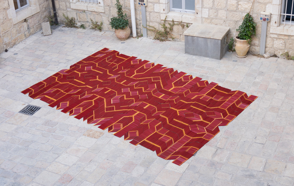 Pencil Carpet, by  We Make Carpets , was created from 11,000 pencils seen at Jerusalem Design Week 2017