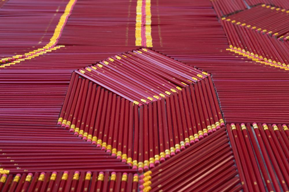 Pencil Carpet, by  We Make Carpets , seen at Jerusalem Design Week 2017