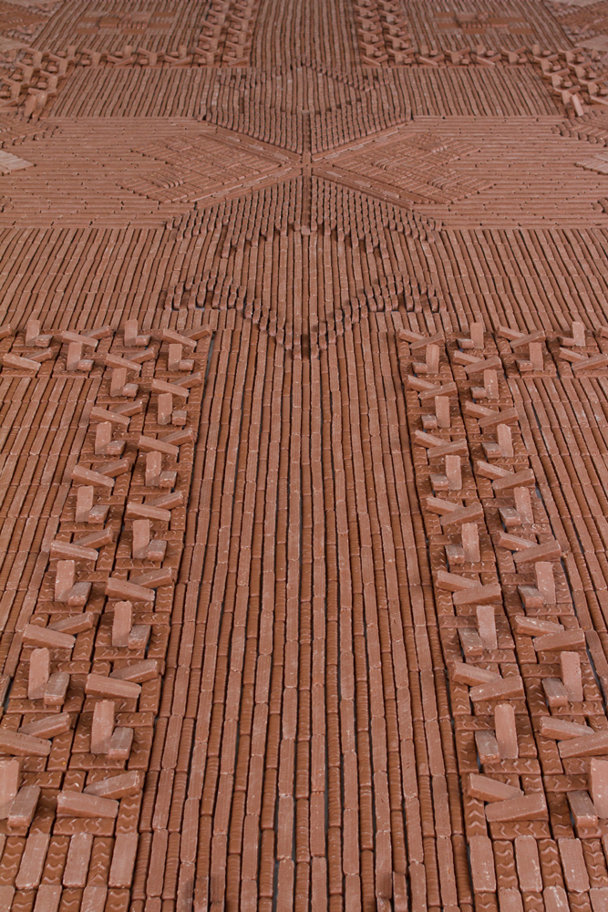 Candybar Carpet by  We Make Carpets , seen at Slokdarm festival, Veghel, The Netherlands. Photograph by  Ine van den Elsen