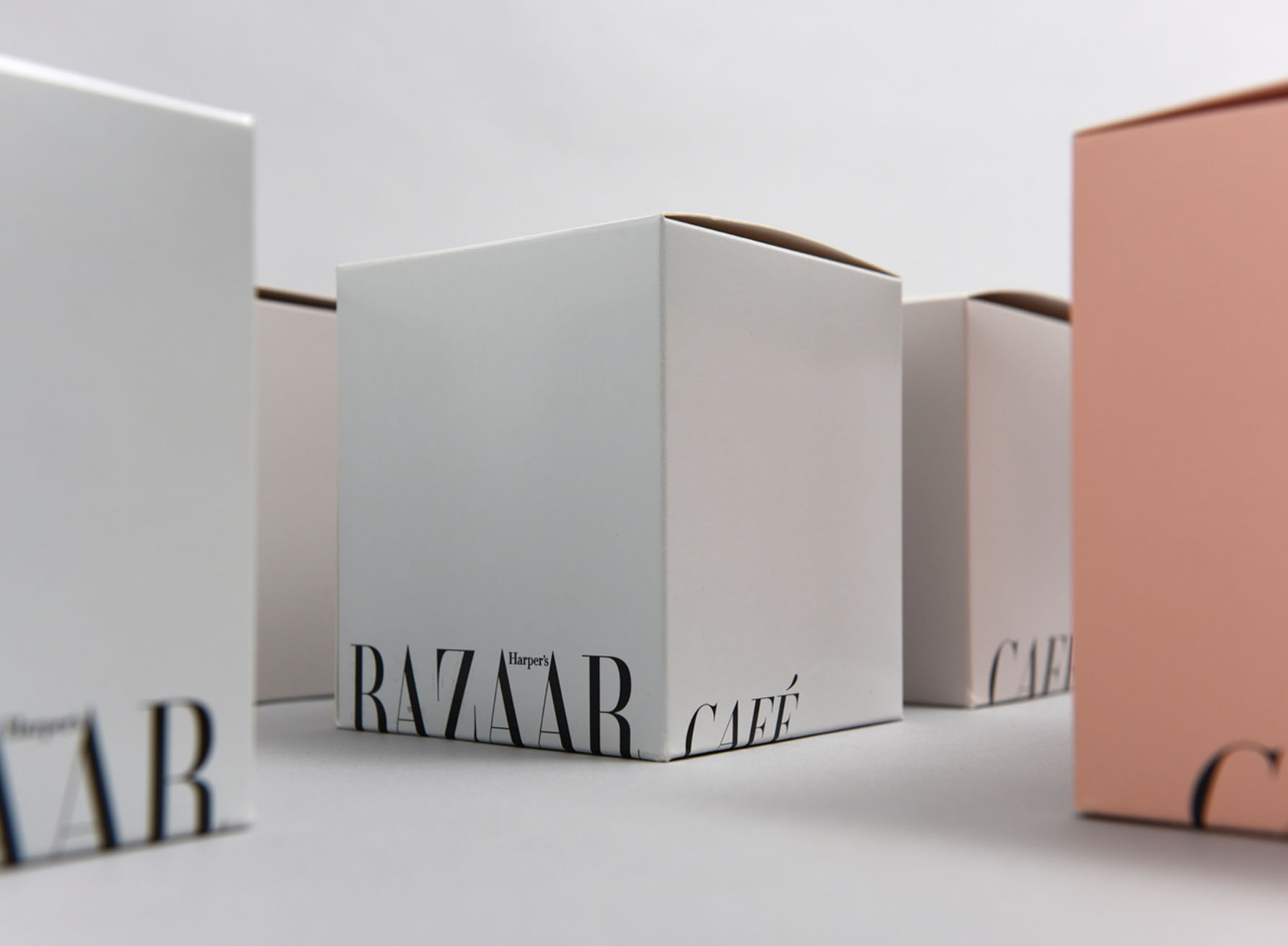 Identity and Packaging design for Harper's Bazaar Cafe by  Design&Practice