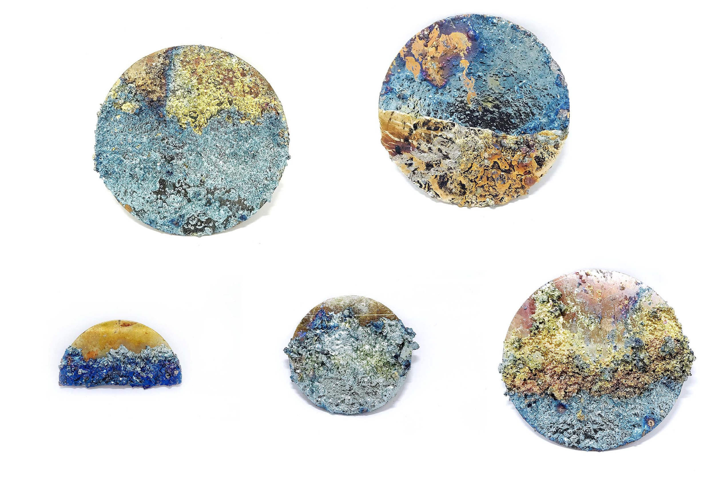 Artifacts from Sara Chyan's  Emotional Jewelry  collection; Materiality–Bismuth, Copper and Beau Cut TM Swarovski