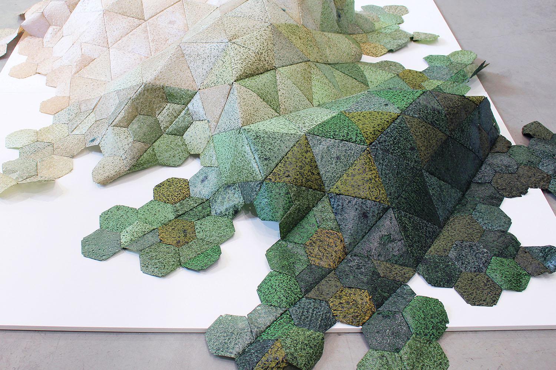 Hannah Elisabeth Jones, BioMarble Installation 'Growth', 2017