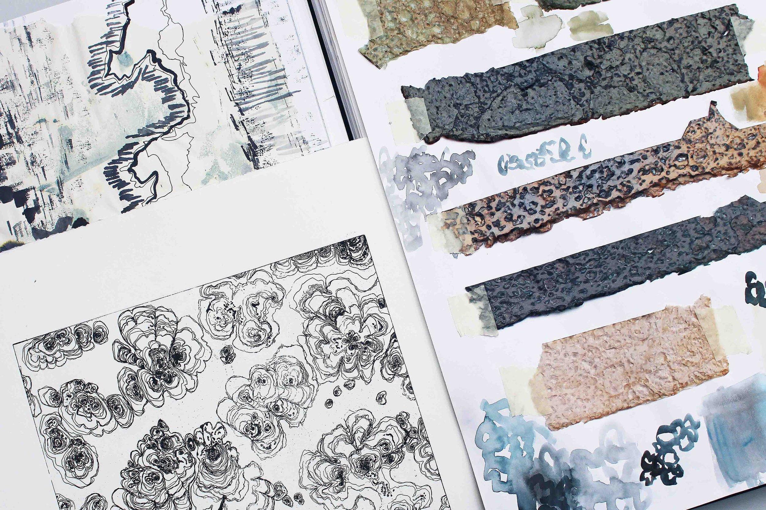 BioMarble color and material testing, Hannah Elisabeth Jones