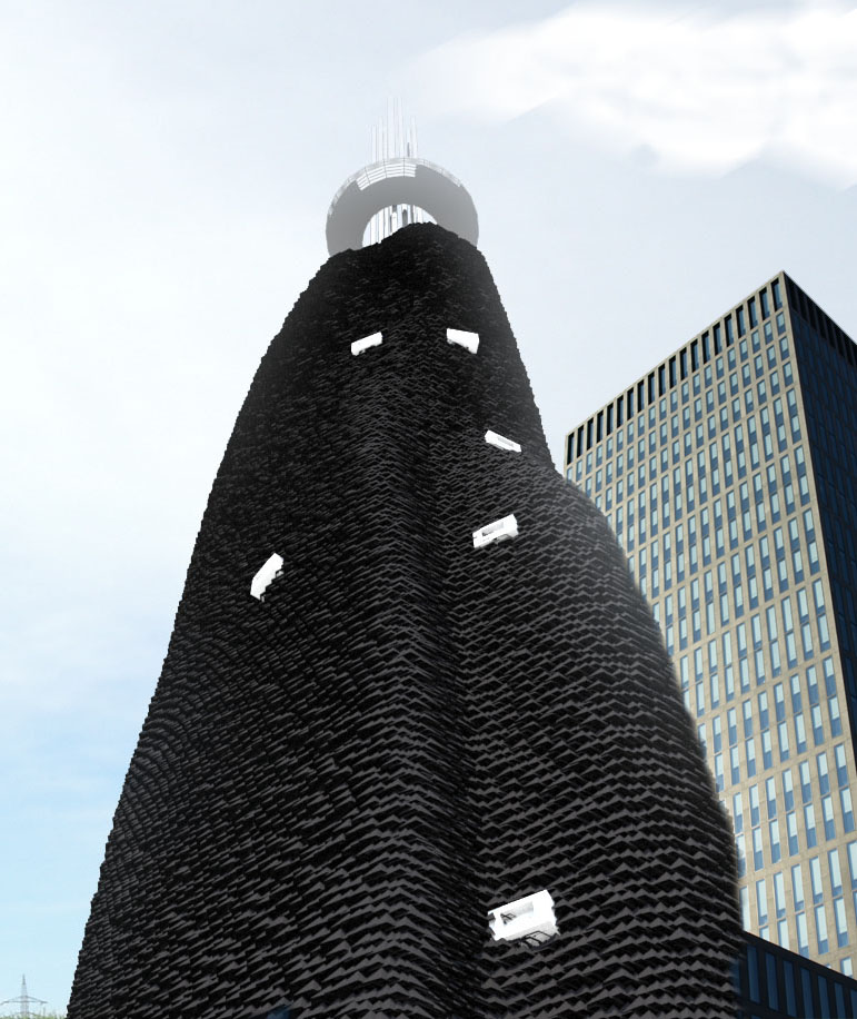 Charscraper,  a projection by  Made of Air