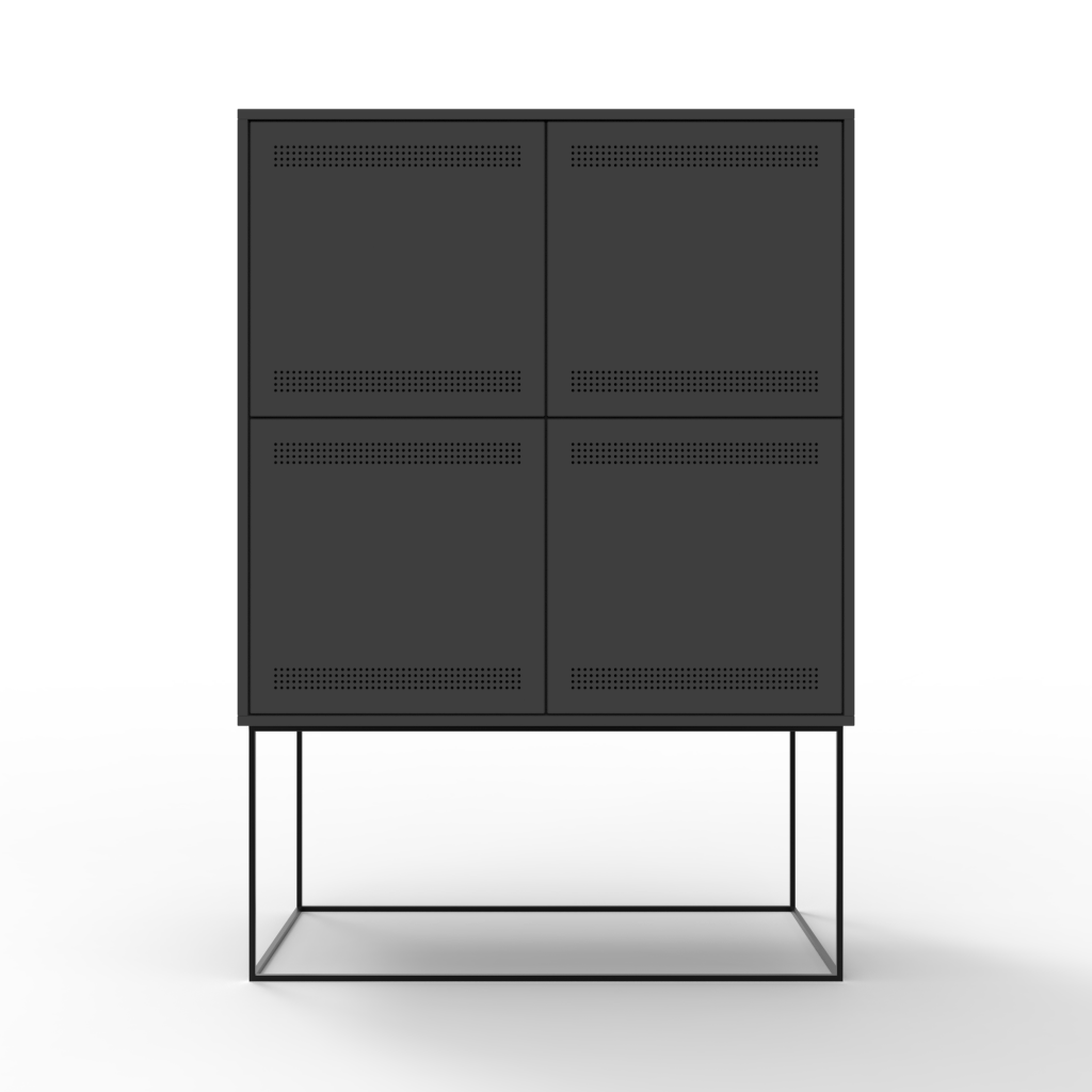 Charcoal Filing Cabinet by Pim Dekkers, made with Niaga ECOR Panel
