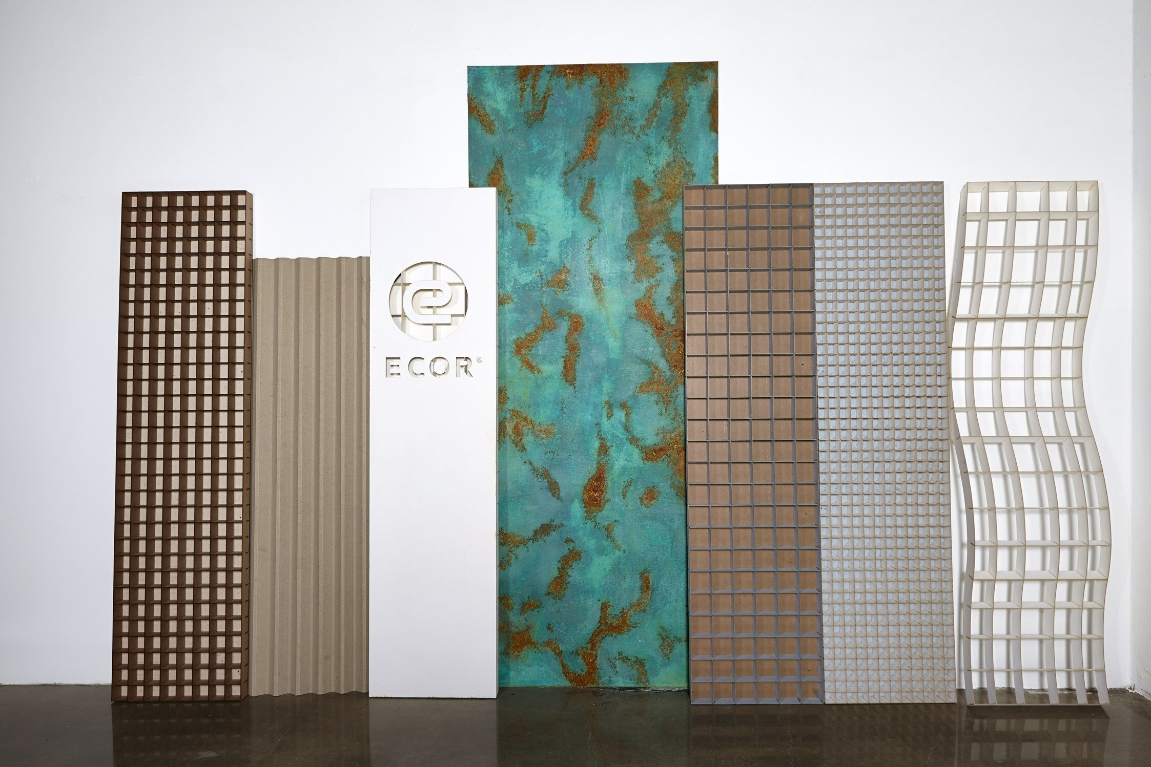 The versatile finishes, forms and detailing that can be created with ECOR's Fiber Alloys