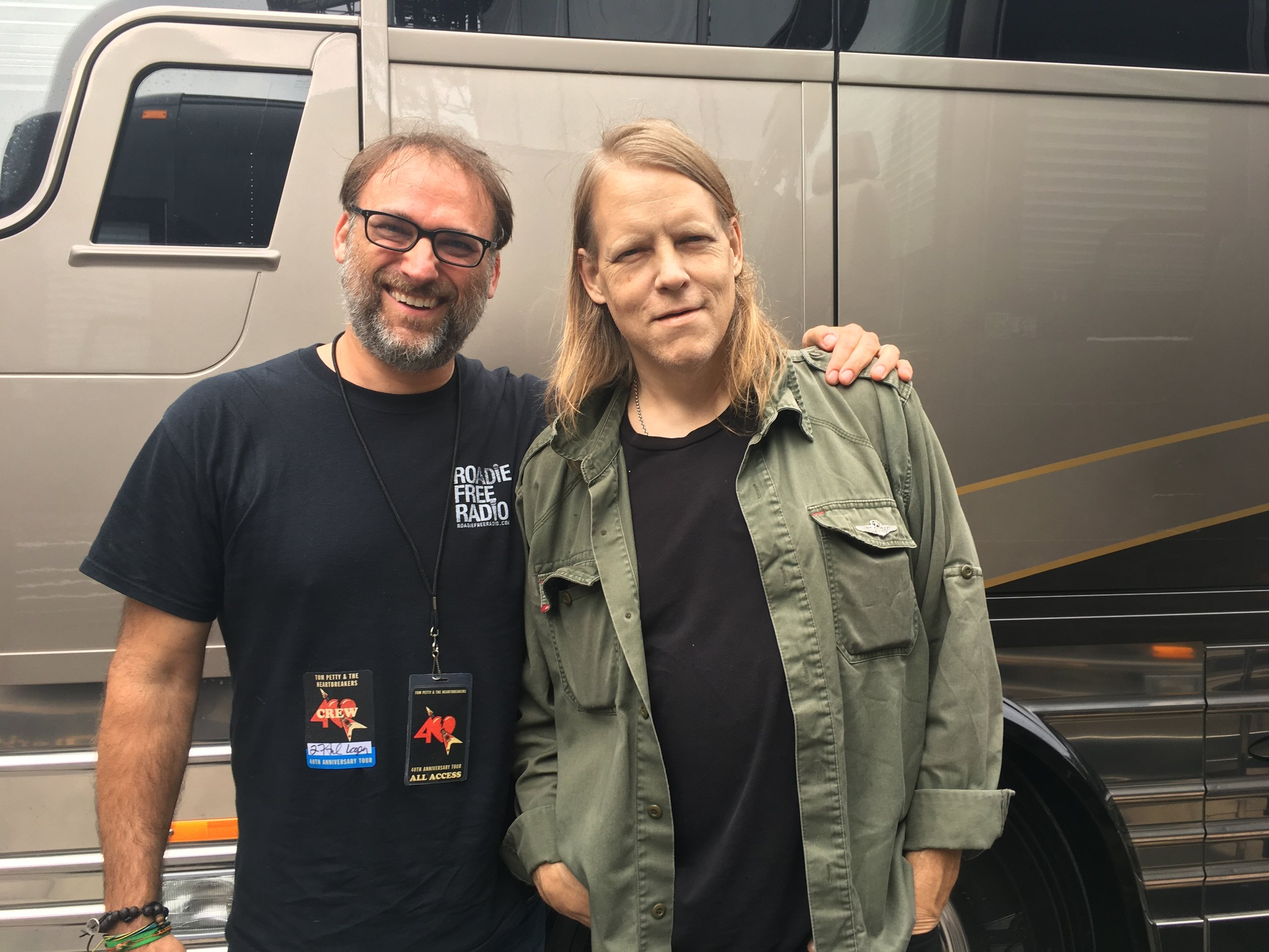 Greg and I outside of his bus.