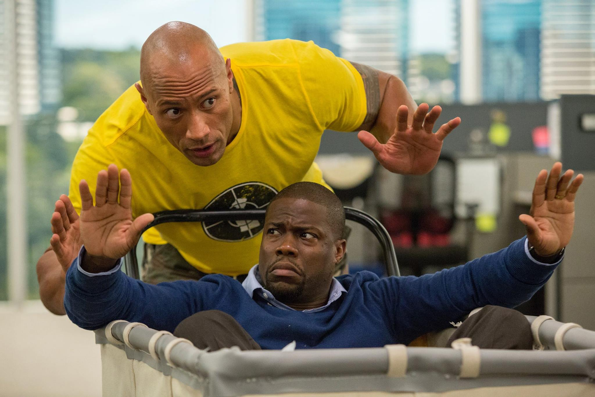 Dwayne Johnson and Kevin Hart star in  Central Intelligence