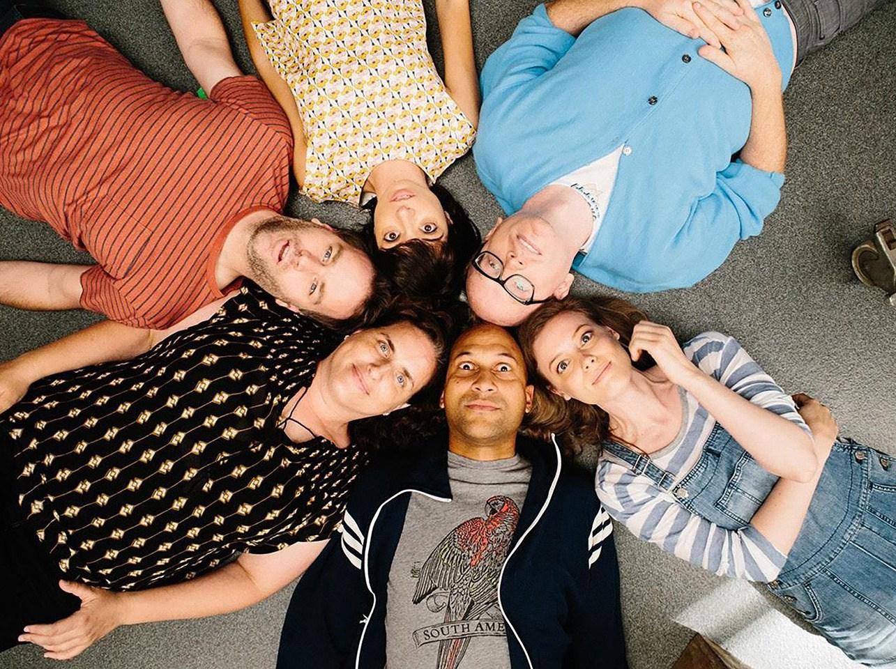 Mike Birbiglia, Kate Micucci, Chris Gethard, Gillian Jacobs, Keegan Michael-Key, and Tami Sagher star in  Don't Think Twice