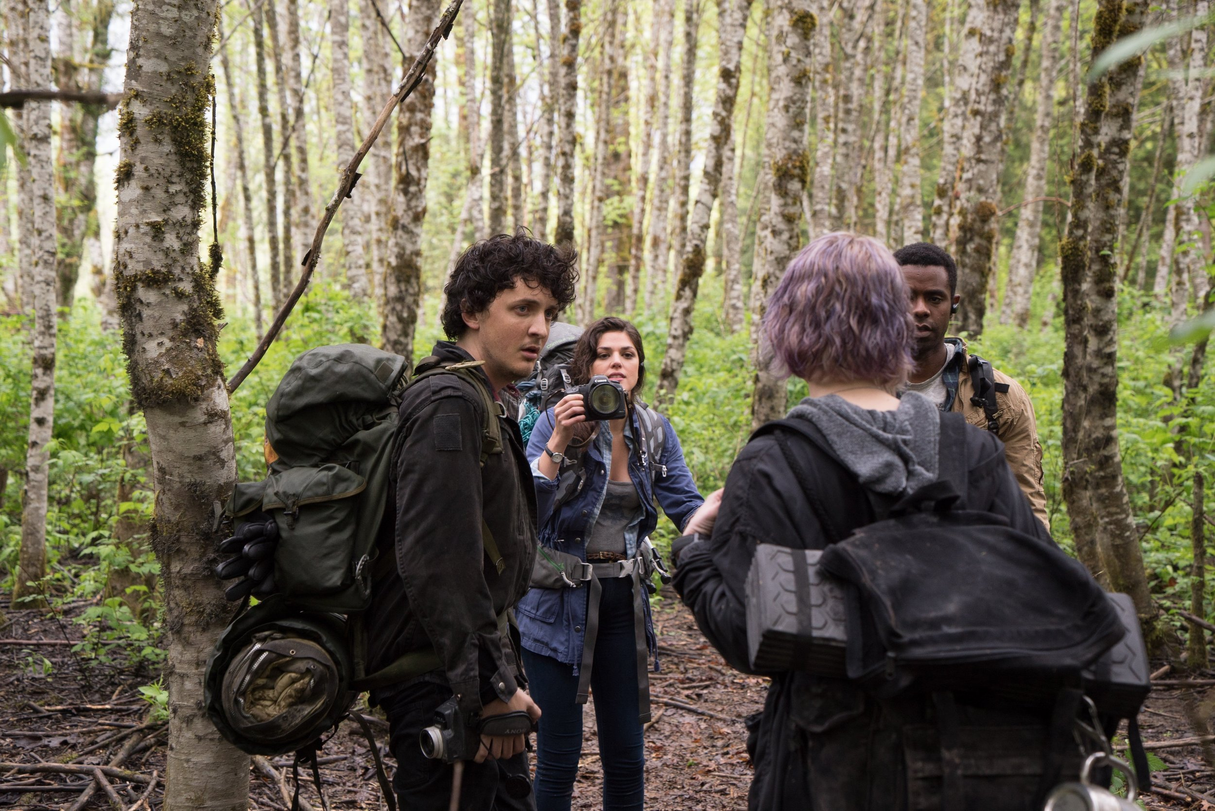 Wes Robinson, Callie Hernandez, Valorie Curry, and Brandon Scott star in  Blair Witch