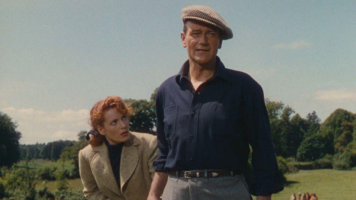 Maureen O'Hara and John Wayne star in  The Quiet Man