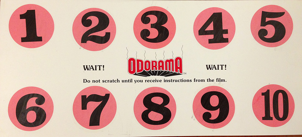 """Polyester's  """"Odorama"""" Scratch-n-Sniff Card"""