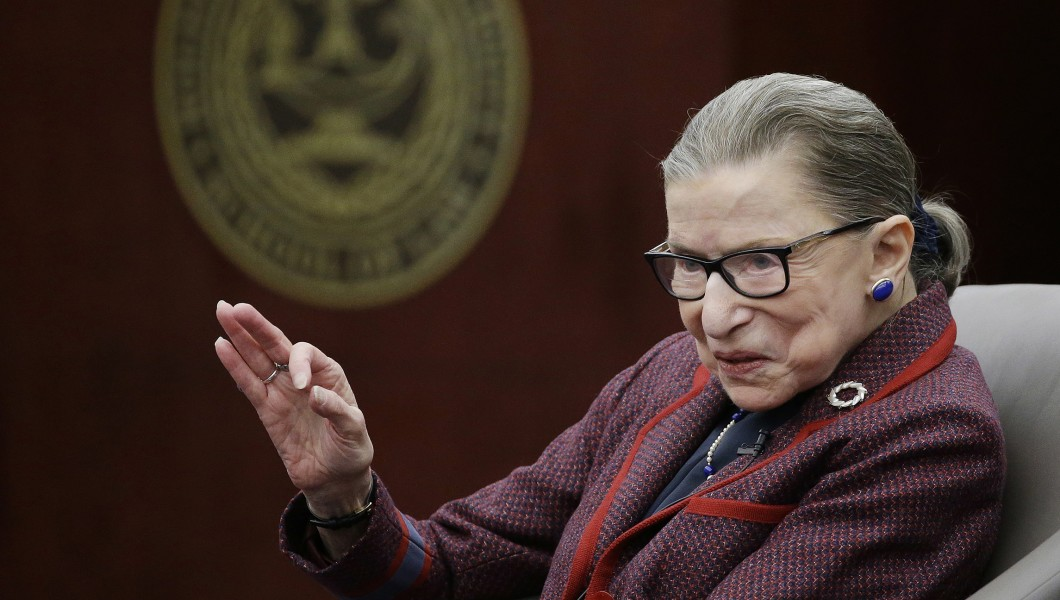 Justice Ruth Bader Ginsburg in  RBG