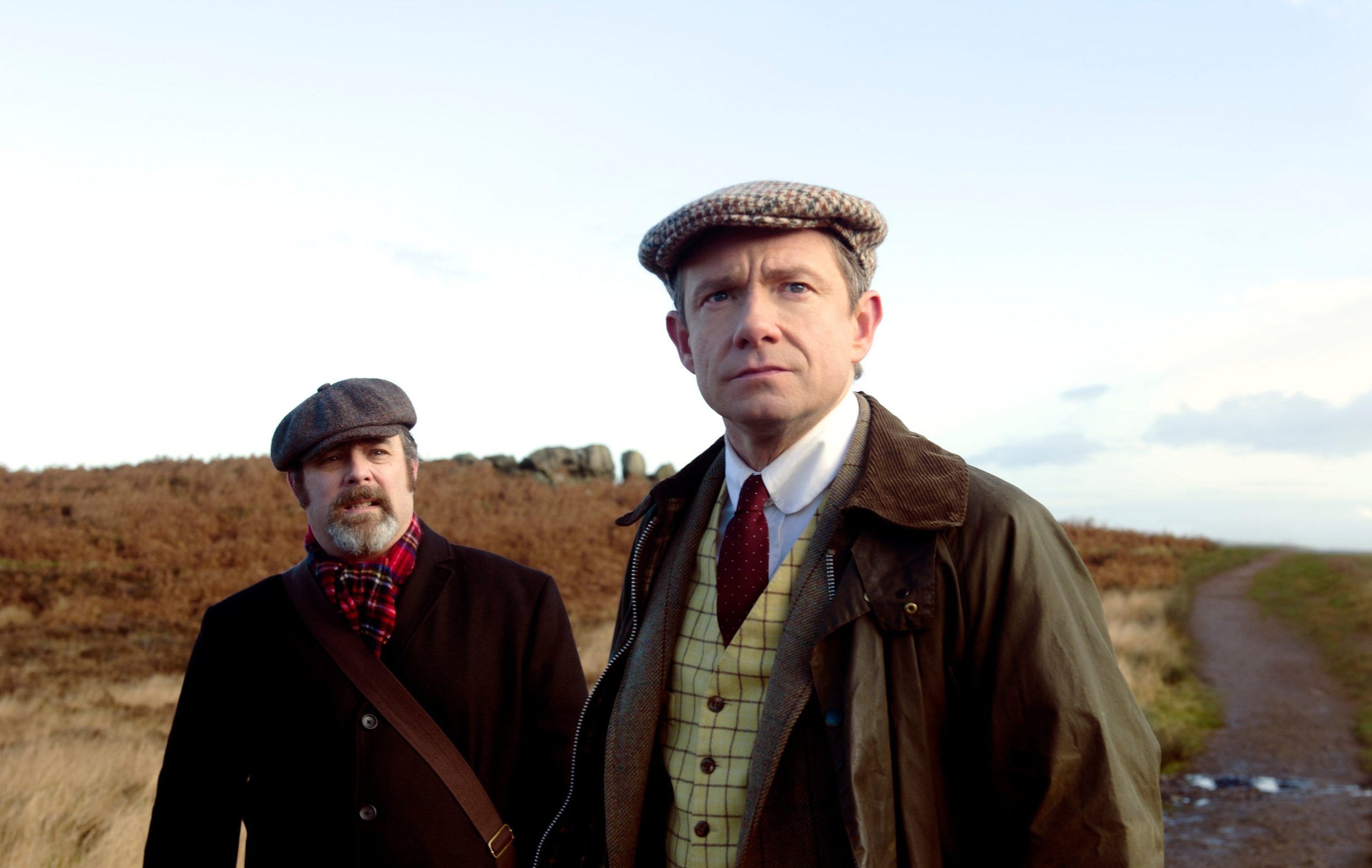 Adam Nyman and Martin Freeman in  Ghost Stories