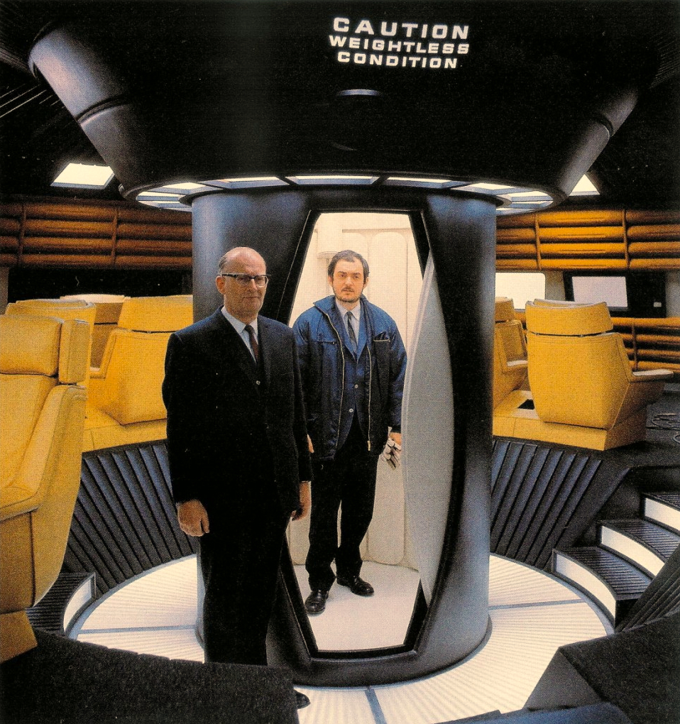Clarke and Kubrick in a publicity still for  2001