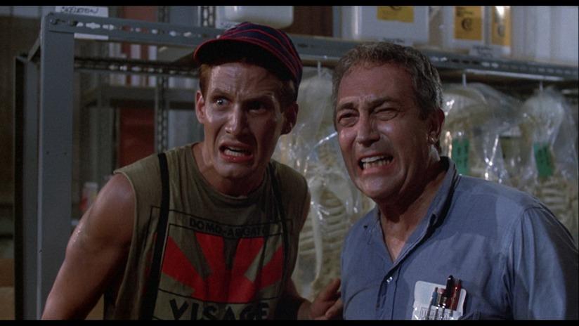 Brian Peck and James Karen star in director Dan O'Bannons's  Return of the Living Dead