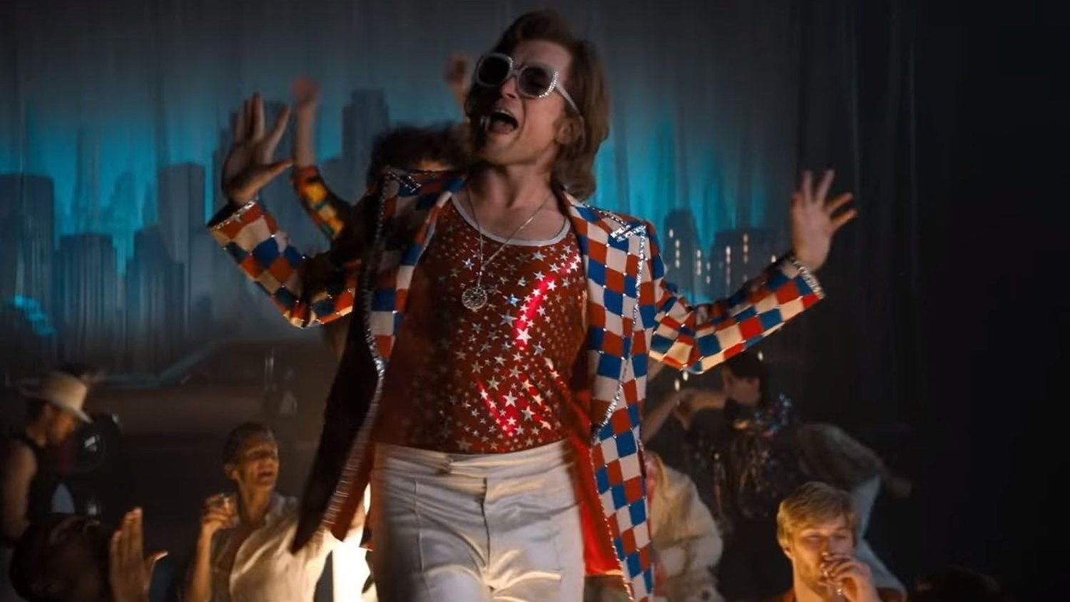 Taron Egerton stars as Elton John in Dexter Fletcher's biopic of the queer pop icon