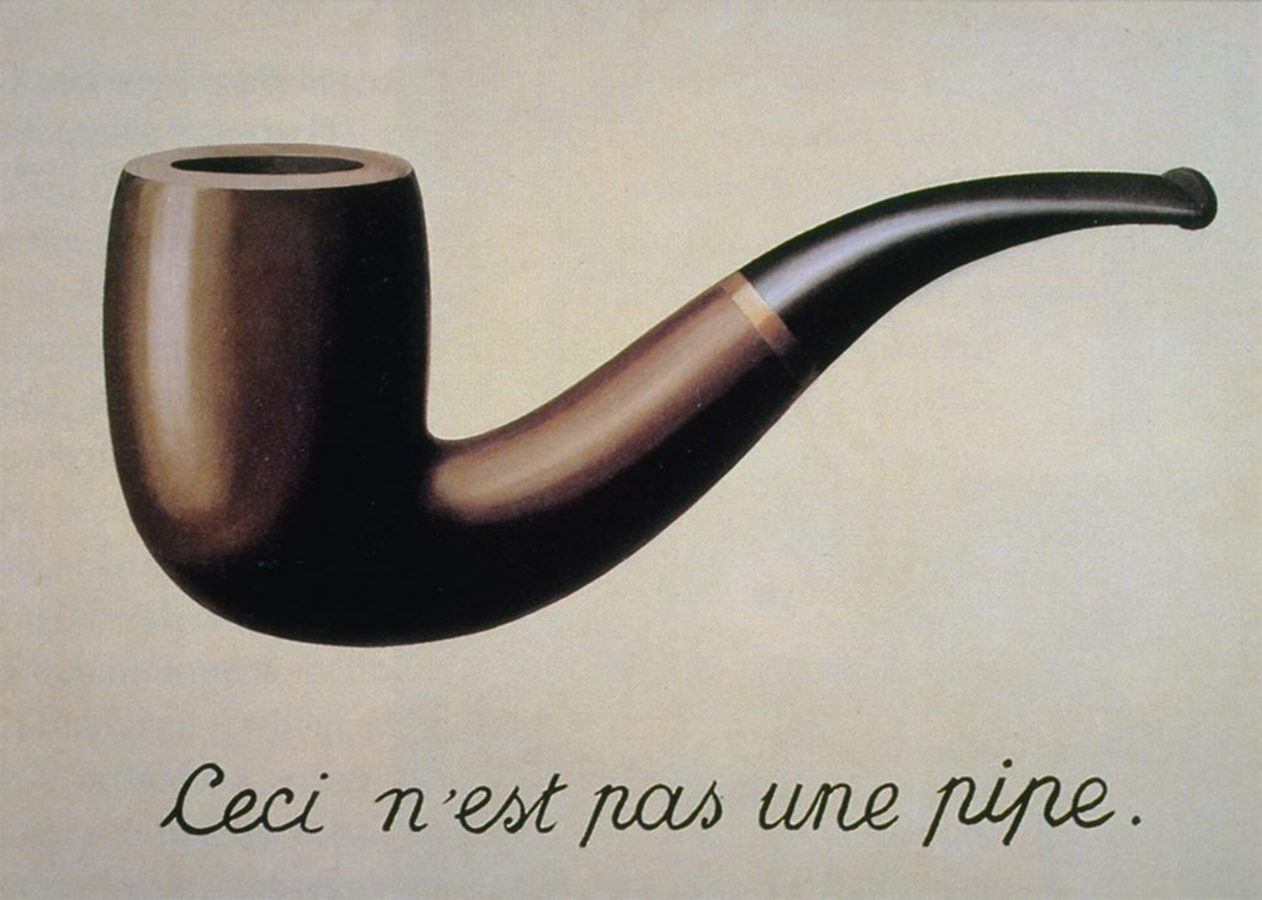 """The Treachery of Images  (1929) by René Magritte. Translation: """"This is not a pipe."""""""