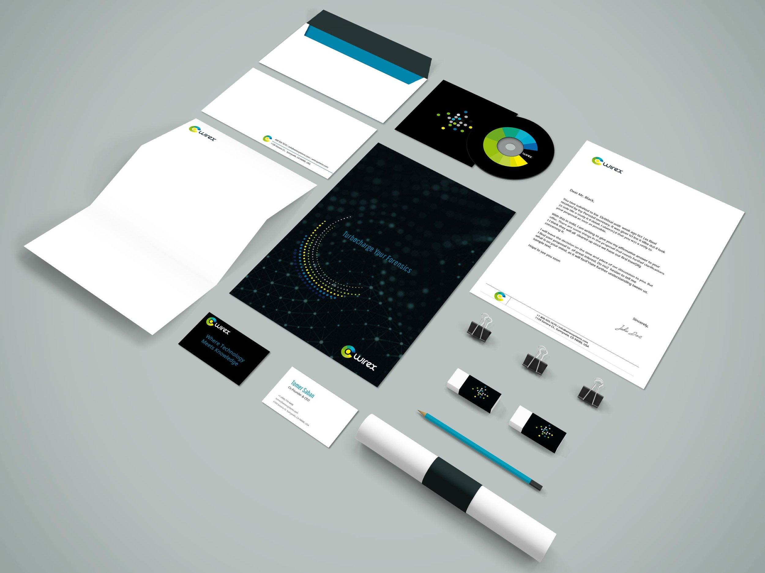 WireX Brand Identity Applications