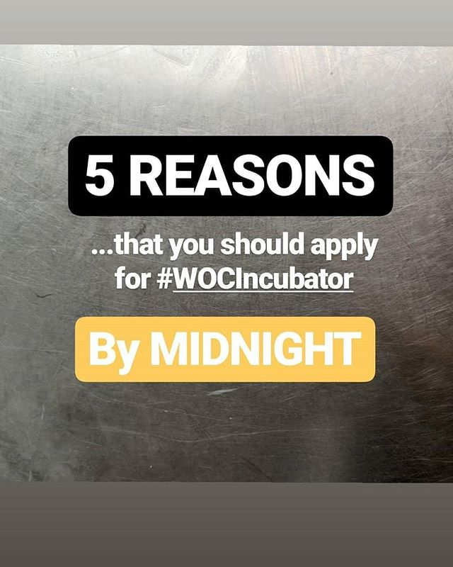 Applications for our #wocincubator at @werampedco and @houseofpod close TONIGHT! Here are five reasons you should apply - and get involved, whoever you are, wherever you are 🌍🚀🎧🎙️📻!