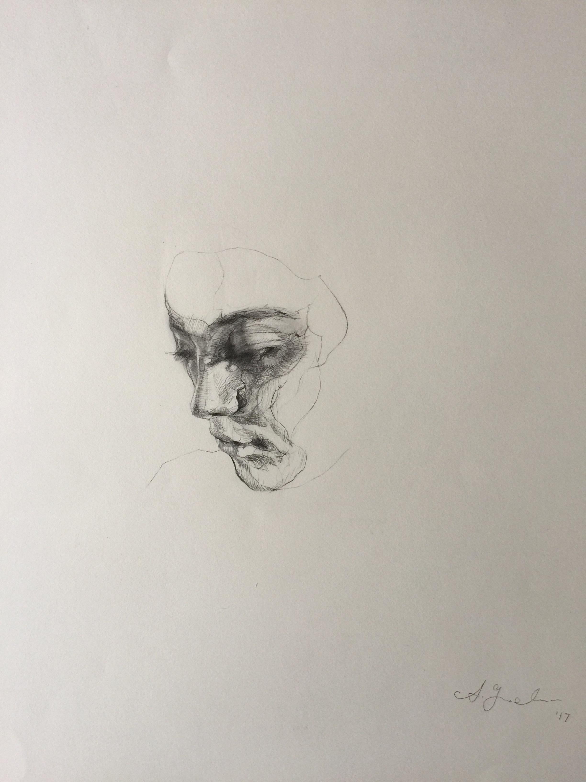 Agnes_Grochulska_Synthesis_Art Process:Bust_1_pencil_18x24.JPG