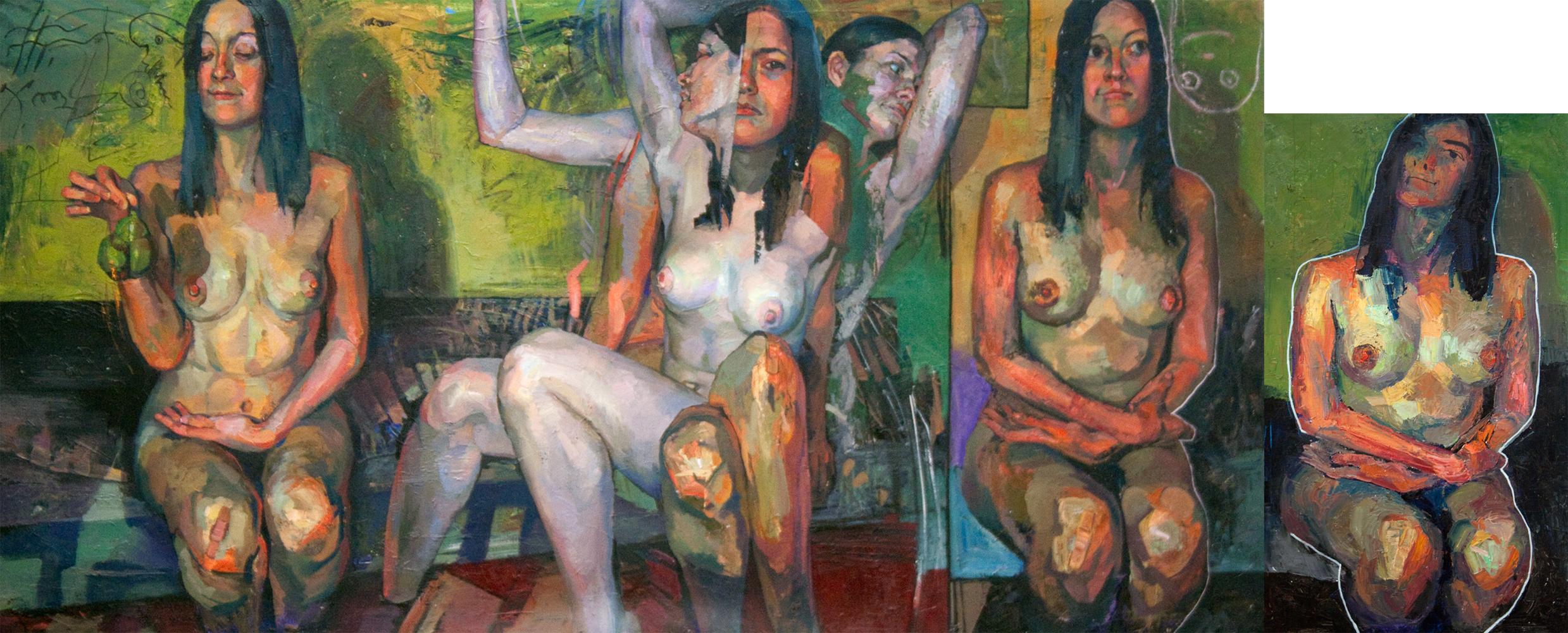 """Regular Variations I"" 2016 Oil on canvas 138 x 270cm SOLD"