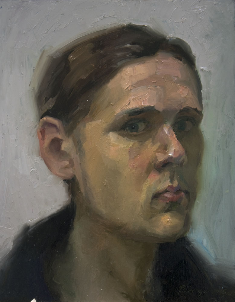 """Self portrait""   2015   Oil on canvas   41 x 32cm"