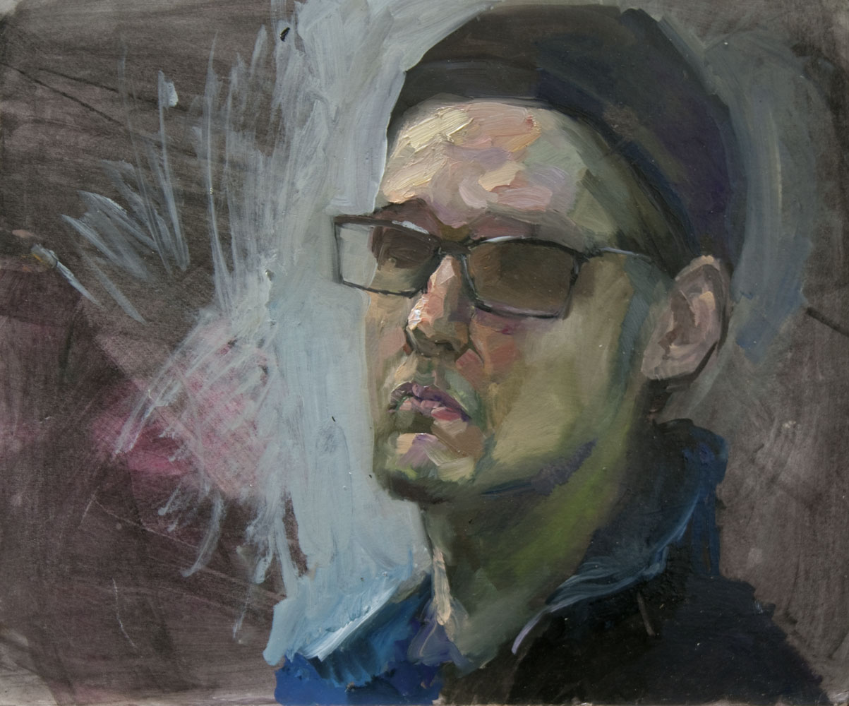 """Self portrait""   2015    Oil on canvas    41 x 50cm"