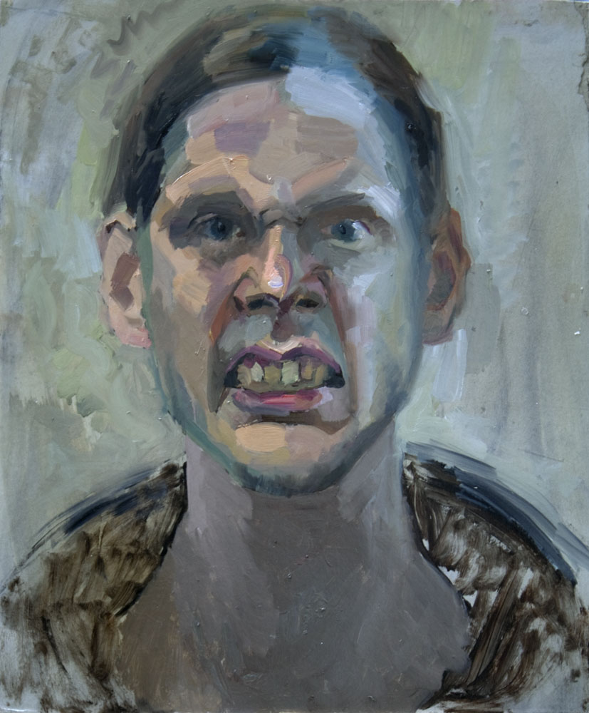 """Self portrait""   2015    Oil on canvas    46 x 38cm"