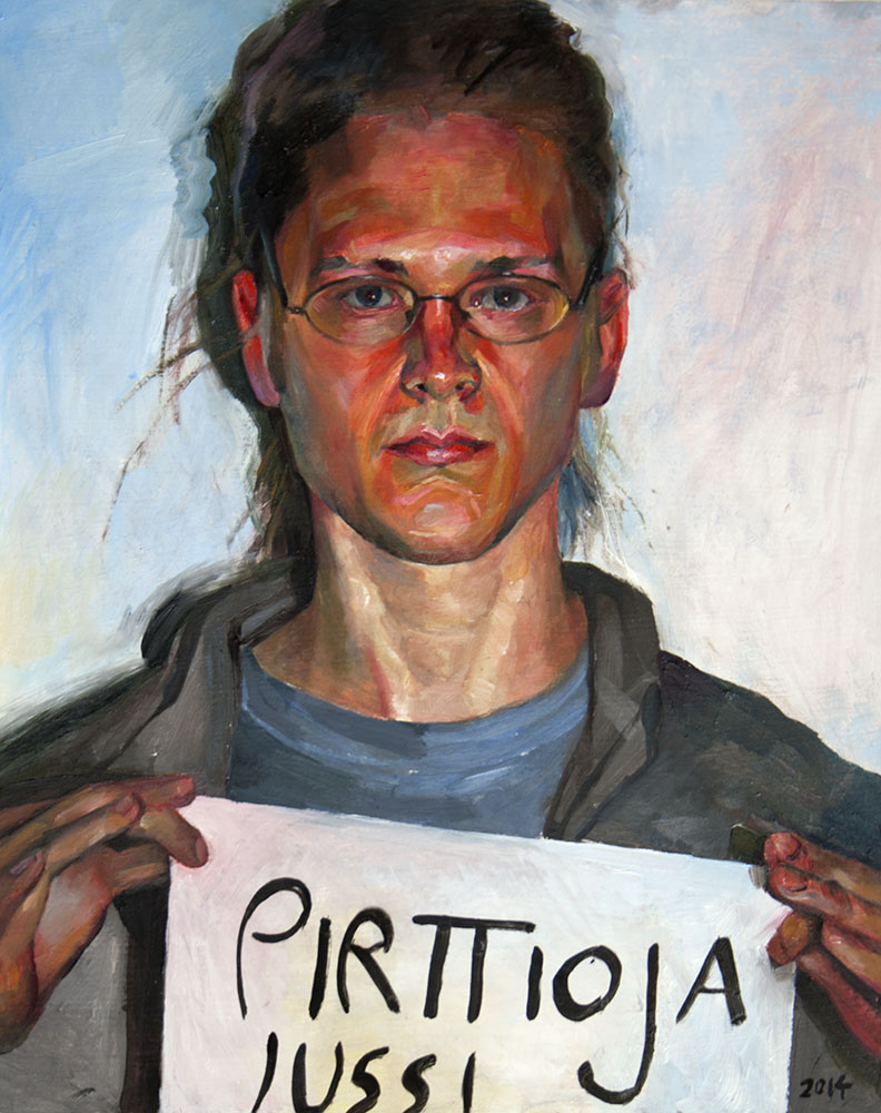 """Self-portrait""   2014   Oil on board   50 x 40cm"