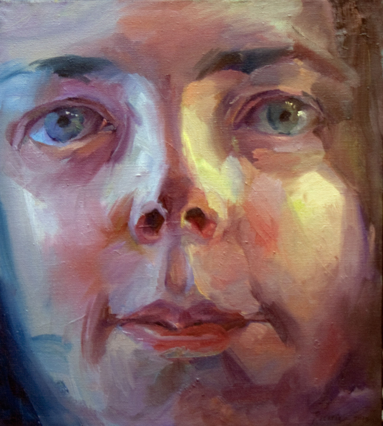 """Kati""   2015    Oil on canvas    46 x 50cm"
