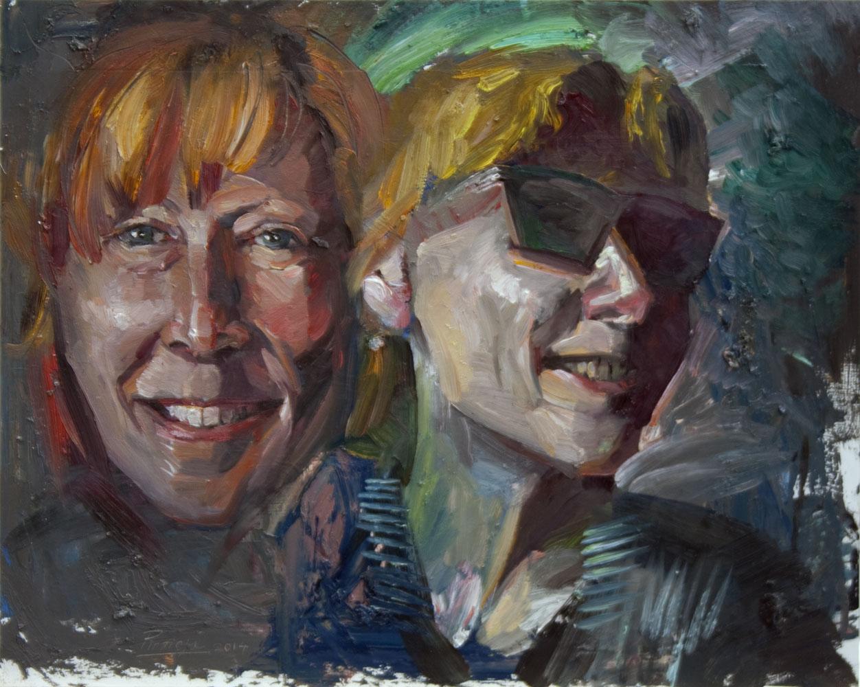 """Face Studies""   2014   40 x 50cm   Oil on board"