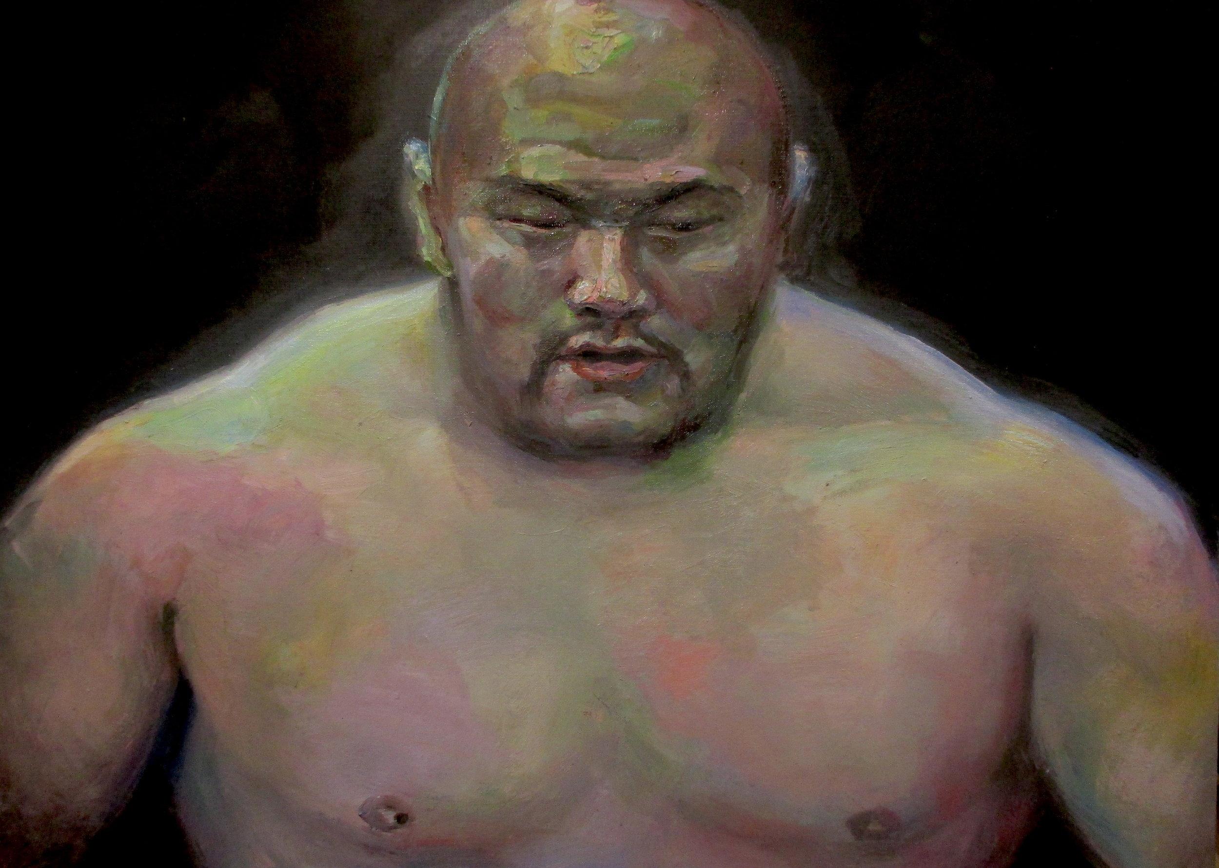"""""""Heavyweight""""  2016   Oil on canvas   65 x 90cm"""