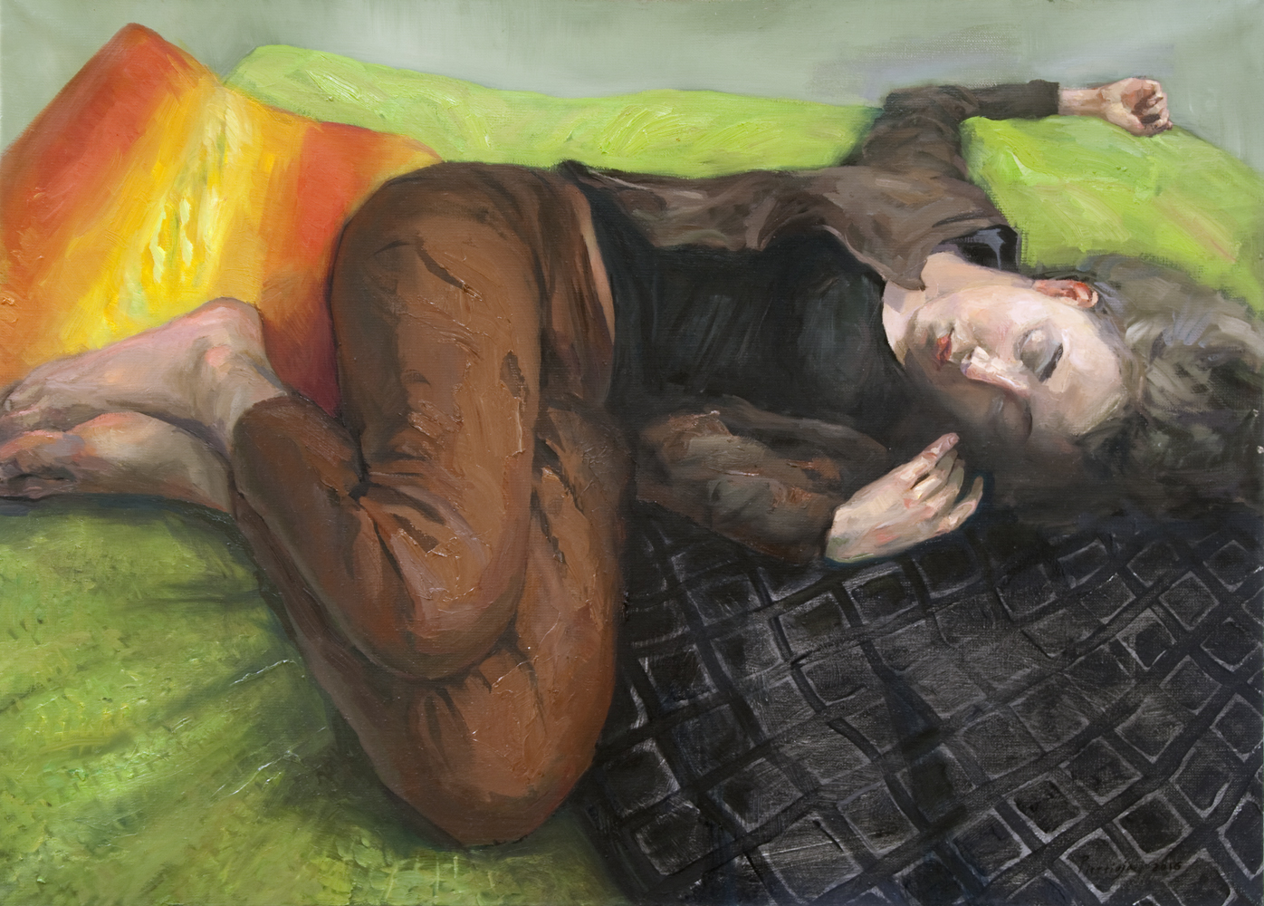 """Sleeping Pauliina""  2016   Oil on canvas   65 x 90cm"