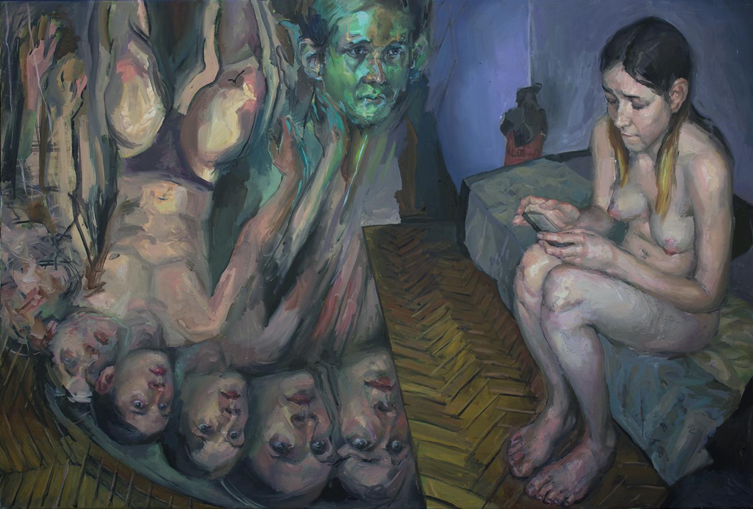 """Snow white"" 2018 Oil on canvas 100 x 150cm"