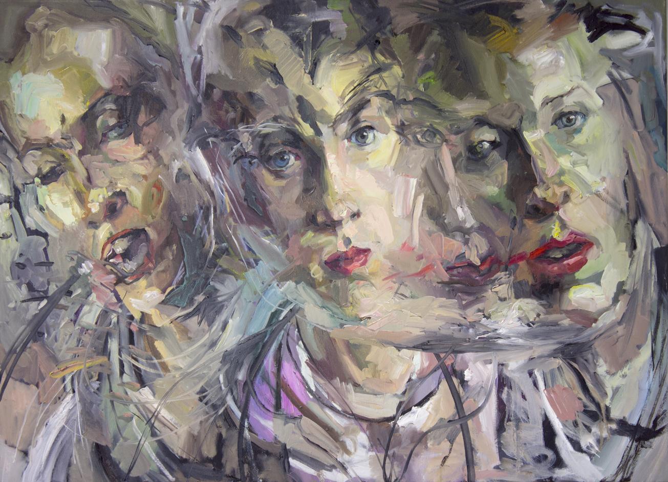 """""""Mania"""" 2018 Oil on canvas 65 x 89cm"""