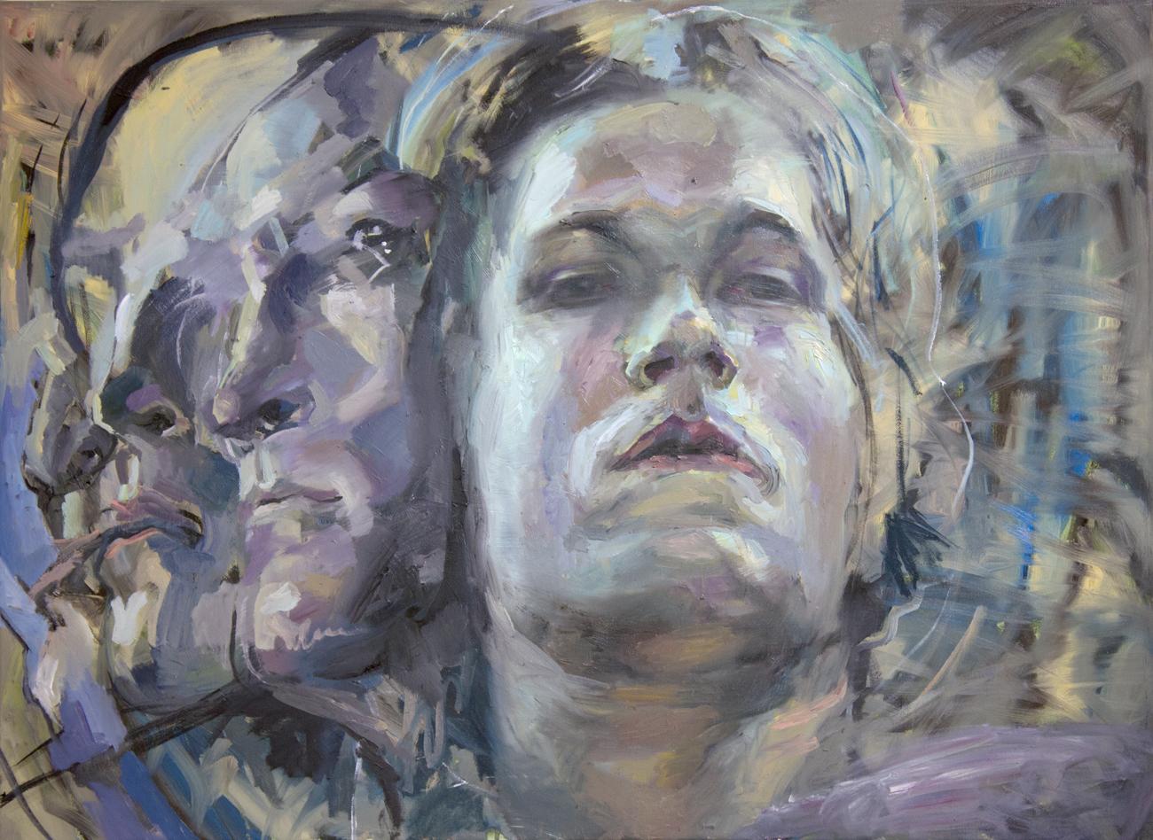 """""""Apathy"""" 2018 Oil on canvas 65 x 89cm"""