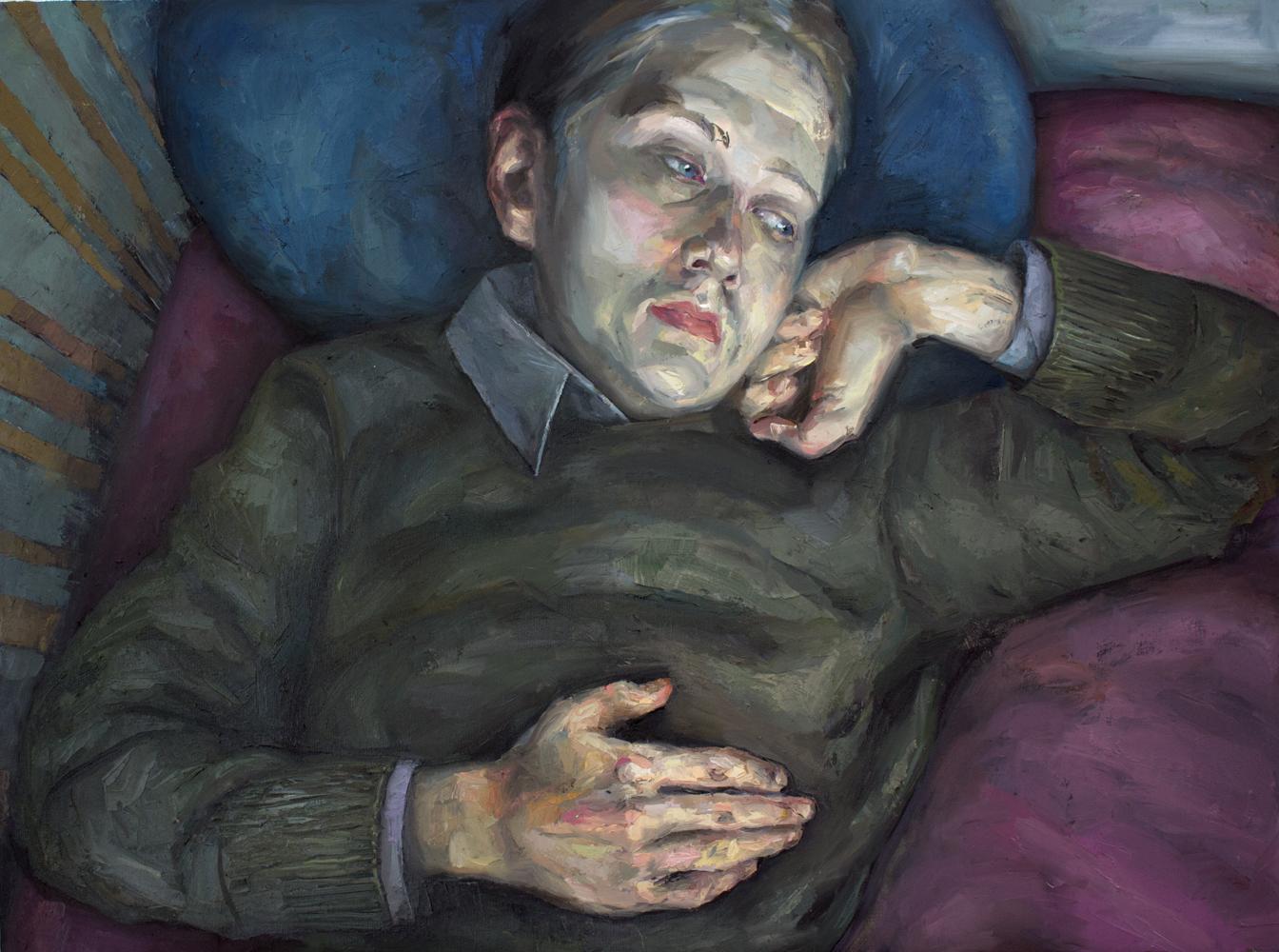 Ennui - Boredom 2018 Oil on canvas 65 x 89cm