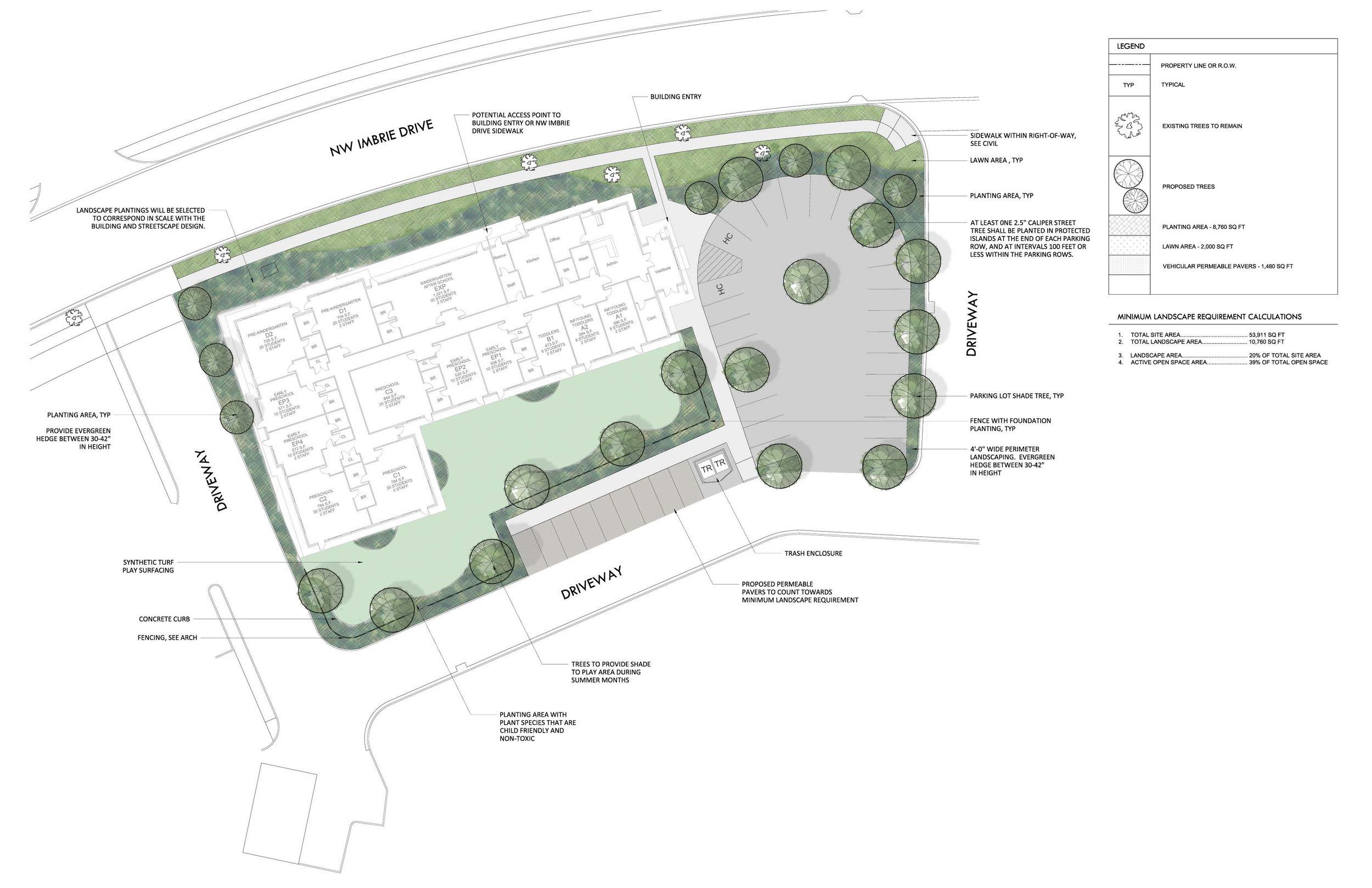 Primrose School of Hillsboro - sustainable site plan