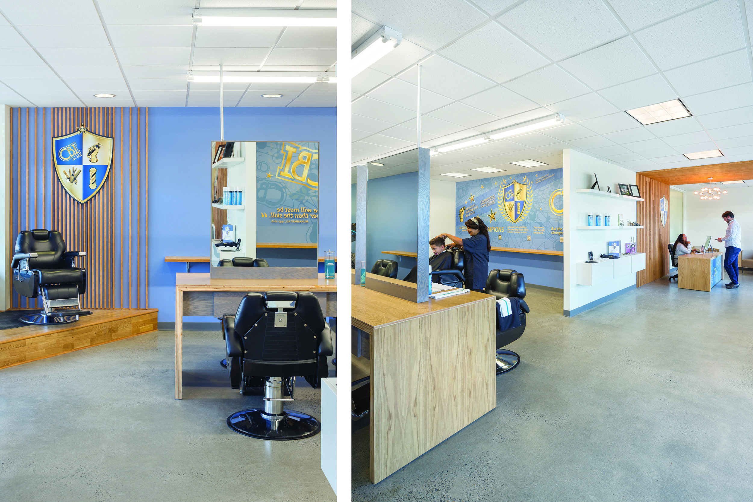 Champions Barbering Institute in Portland, Oregon   Photo Credit: Josh Partee