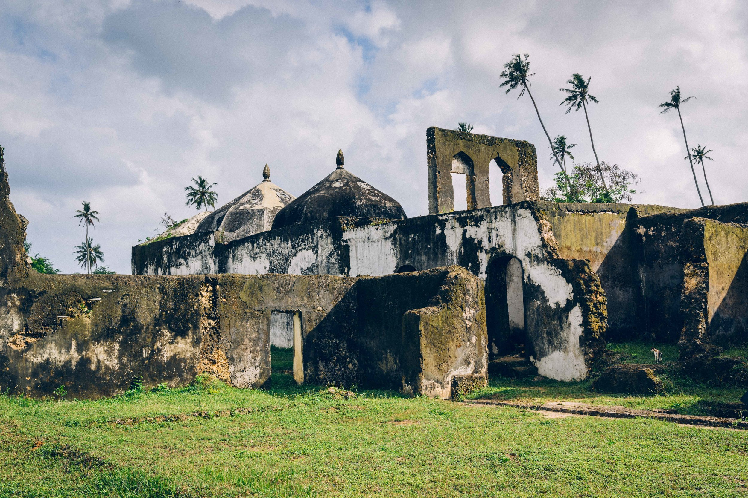 The ruins of the nearby Maruhubi palace built by the third Arab sultan of Zanzibar between 1880-1882.