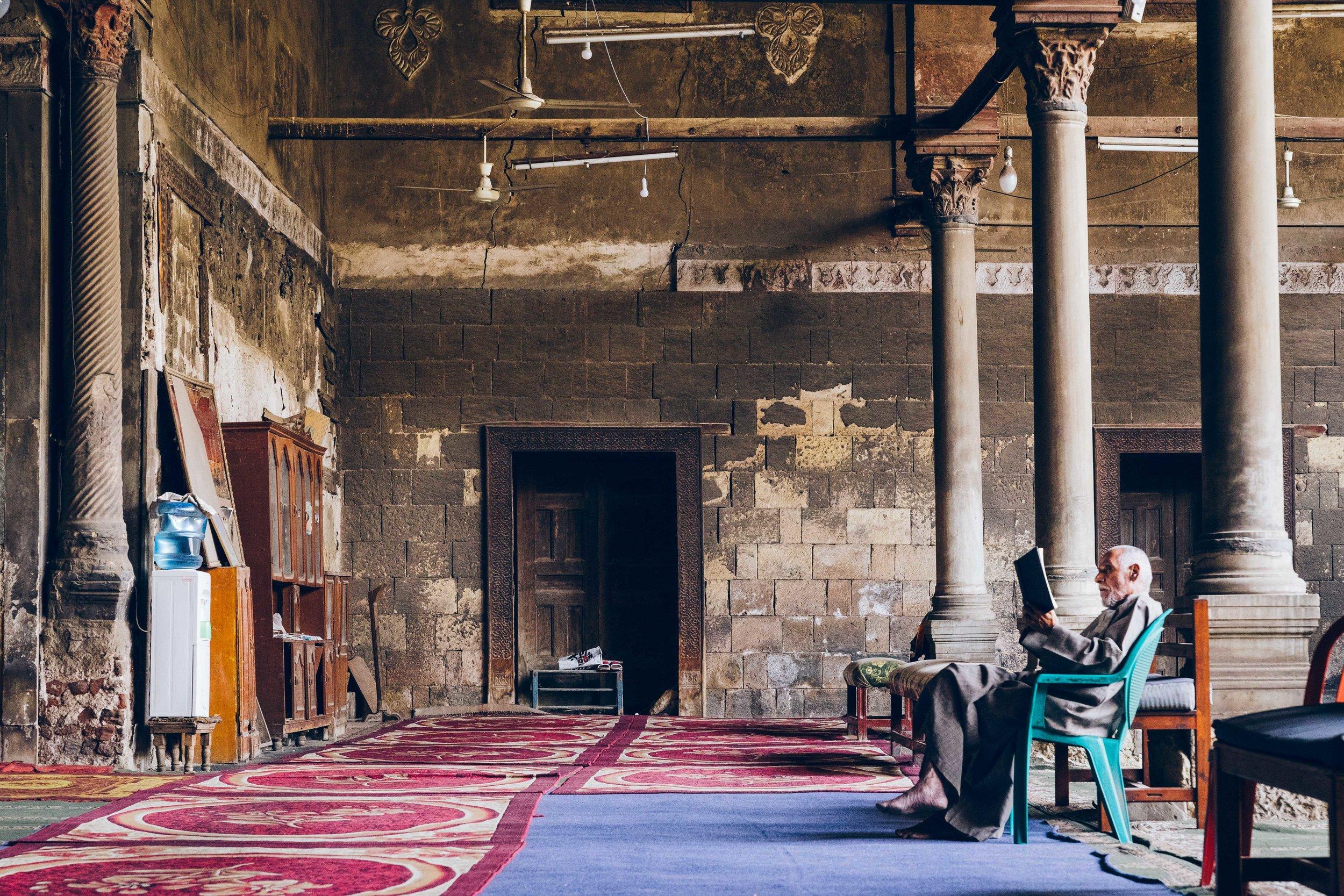 Inside the al-Maridani Mosque