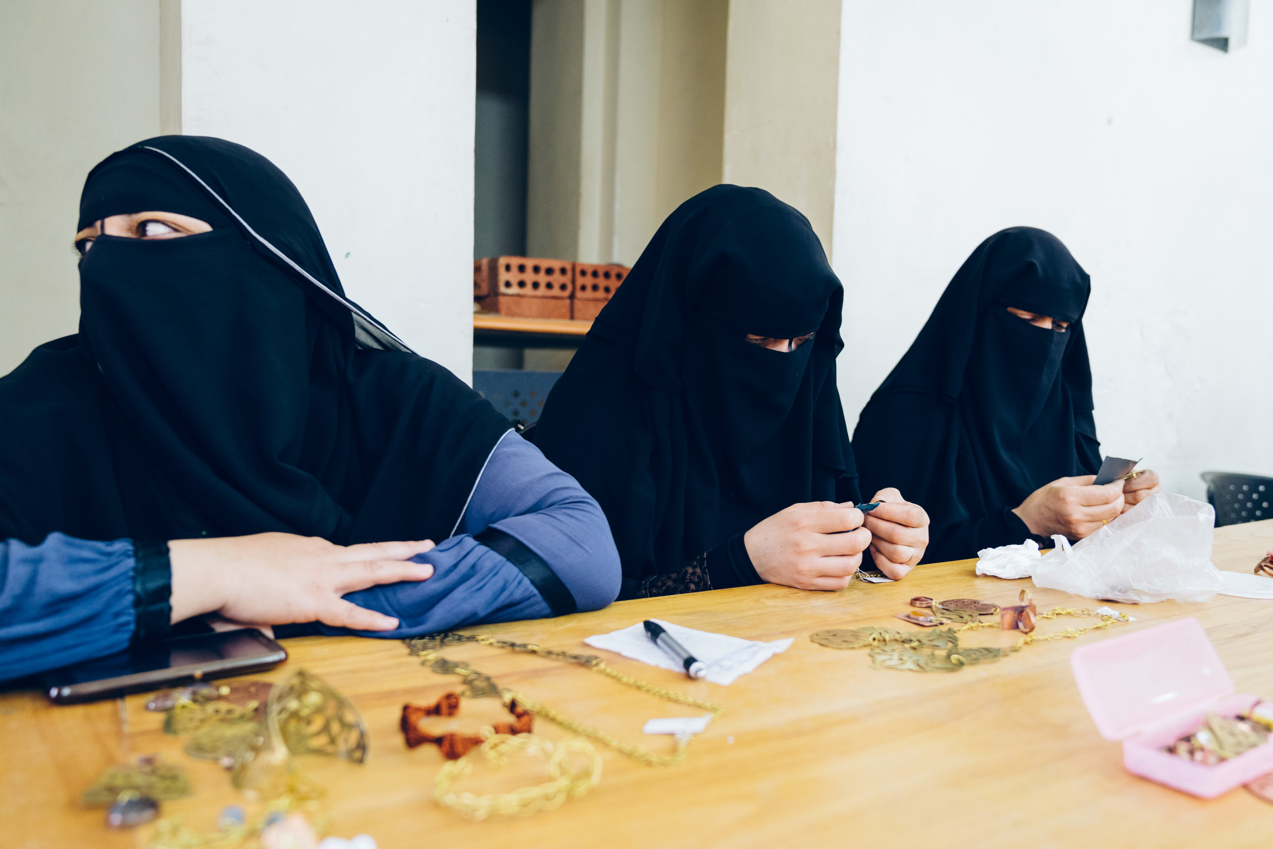 Women's jewellery training group